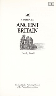 Cover of: Ancient Britain (AA Glovebox Guides) | T.C. Darvill