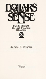 Cover of: Dollars & sense | James E. Kilgore
