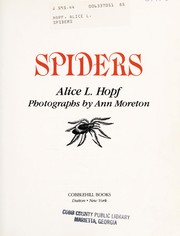 Cover of: Spiders | Alice Lightner Hopf
