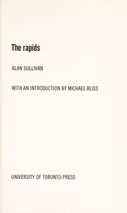 Cover of: The rapids | Alan Sullivan