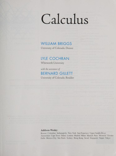 Calculus by William L. Briggs