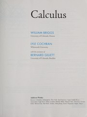 Cover of: Calculus | William L. Briggs