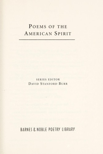 Poems of the American Spirit by