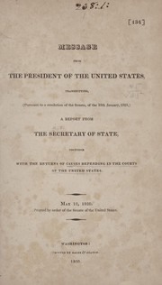 Cover of: Message from the President of the United States | United States. Department of State