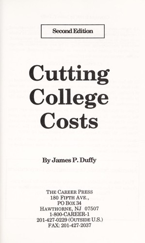 Cutting College Costs by James P. Duffy