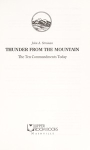 Cover of: Thunder from the mountain | John A. Stroman