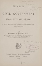 Cover of: Elements of civil government | William Augustus Mowry