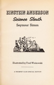 Cover of: Einstein Anderson, science sleuth | Seymour Simon
