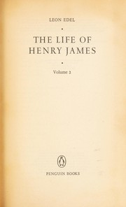 Cover of: The life of Henry James