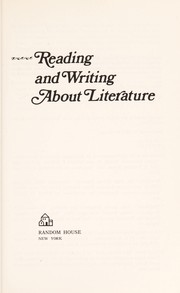 Cover of: Reading and writing about literature | Mary Rohrberger