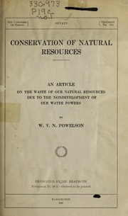 Cover of: [Pamphlets on the conservation of natural resources] |