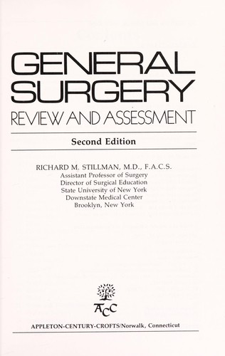 General surgery by Richard M. Stillman