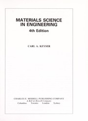 Cover of: Materials science in engineering | Carl A. Keyser