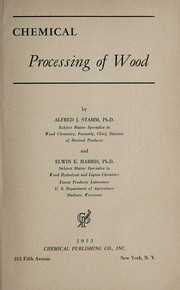 Cover of: Chemical processing of wood