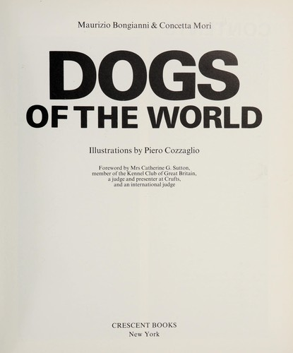 Dogs Of The World by Maurizio Bongianni
