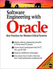 Cover of: Software Engineering With Oracle | Elio Bonazzi