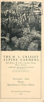 Cover of: Seventeenth annual catalog, 1930 | W.L. Crissey Alpine Gardens