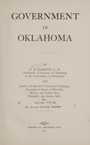 Cover of: Government in Oklahoma | Barrett, S. M.