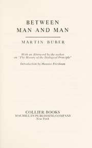 Cover of: Between man and man