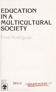 Cover of: Education in a multicultural society