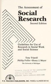 The assessment of social research by Tony Tripodi