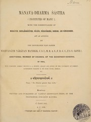 Cover of: Mánava-dharma śástra (Institutes of Manu)