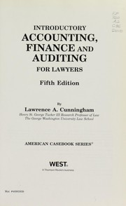 Cover of: Introductory accounting and finance for lawyers | Lawrence A. Cunningham