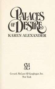Cover of: Palaces of desire