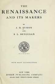 Cover of: The Renaissance and its makers