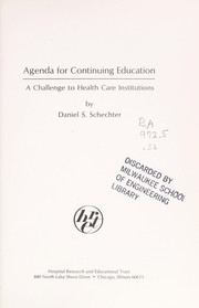 Cover of: Agenda for continuing education