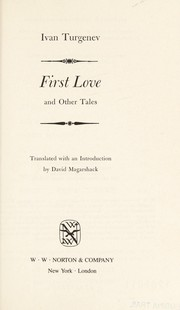 Cover of: First love, and other tales