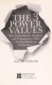 Cover of: The 3 power values | David Gebler