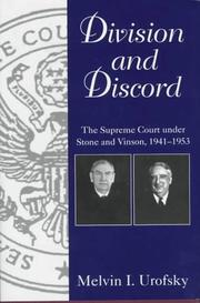 Cover of: Division and discord