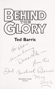 Cover of: Behind the glory