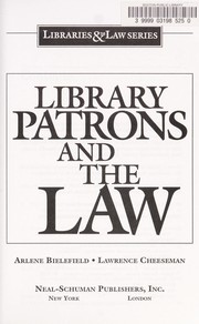 Cover of: Library patrons and the law