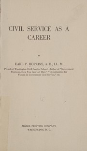 Cover of: Civil service as a career