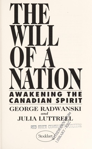 The will of a nation by George Radwanski