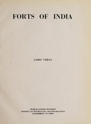 Cover of: Forts of India | Amrit Verma