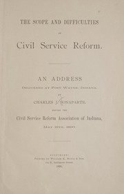 Cover of: The scope and difficulties of civil service reform