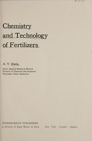 Cover of: Chemistry and technology of fertilizers