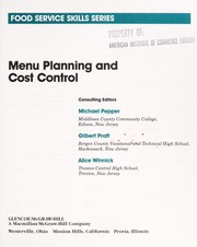Cover of: Menu planning and cost control | Michael Pepper