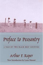 Cover of: Preface to peasantry | Arthur Franklin Raper