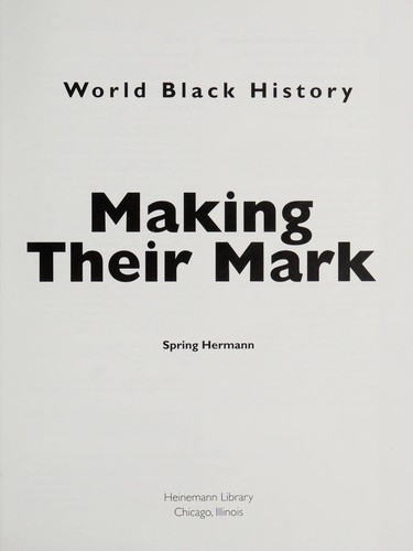 Making their mark by Spring Hermann