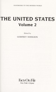 Cover of: The United States