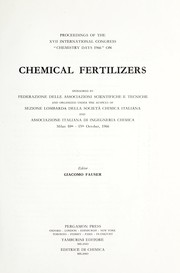 Cover of: Chemical fertilizers |