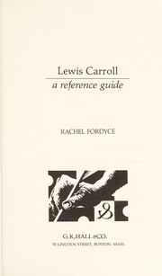 Cover of: Lewis Carroll | Rachel Fordyce