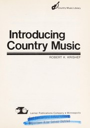 Cover of: Introducing country music | Robert K. Krishef
