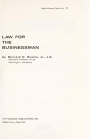 Cover of: Law for the businessman | Bernard D. Reams