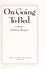 Cover of: On going to bed