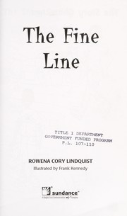 Cover of: The fine line (Sparklers) | Rowena Cory Lindquist